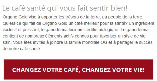 organo gold quebec